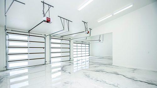 parade home garage interior