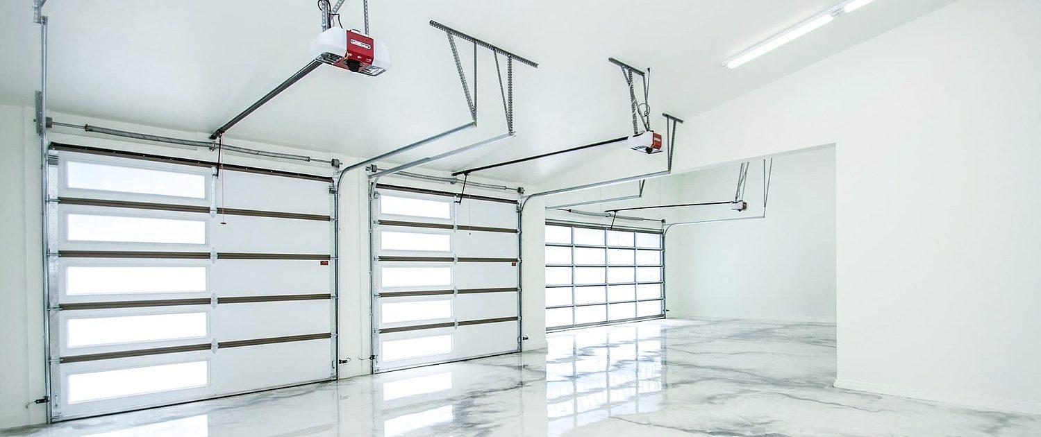 parade home garage door interior