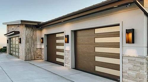 Martin Cornerstone Flush Weber Utah Parade Home Garage Door installed by garage door utah