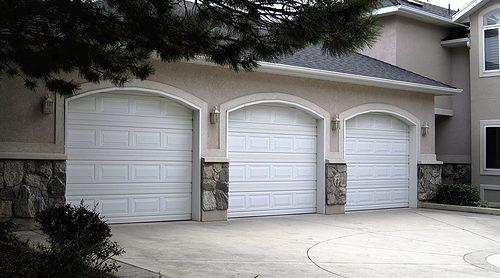 martin standard garage door white short panel