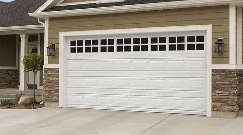 martin standard garage door white short panel with window section