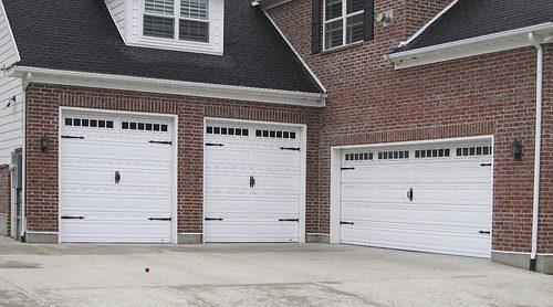 martin standard garage door with decorative hardware